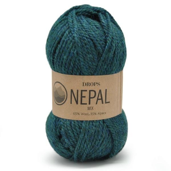 Пряжа Drops Nepal 8905 морской