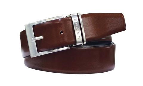 Ремень Cross Classic Century двухсторонний, кожа наппа гладкая, цвет чёрный/коричневый, 111,76х3,5см