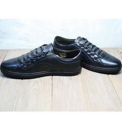 Кожаные кроссовки кеды мужские Novelty 5235 Black