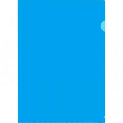 Папка уголок Attache формат А5 синий в уп.20шт.,150 мкм