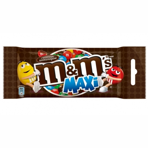 Драже M&M Maxi Шоколад 70 гр ВЕЛИКОБРИТАНИЯ