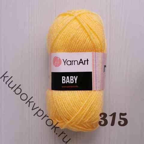 YARNART BABY 315, Светлый желтый