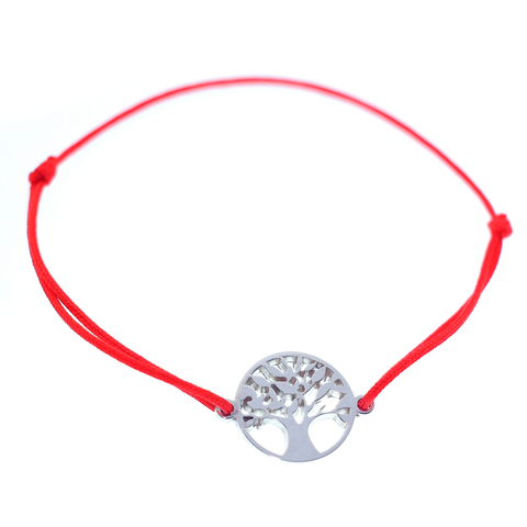 Серебряный браслет нить