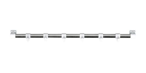 Вешалка блестящая Tescoma PRESTO 40 см, 6 белых крючков