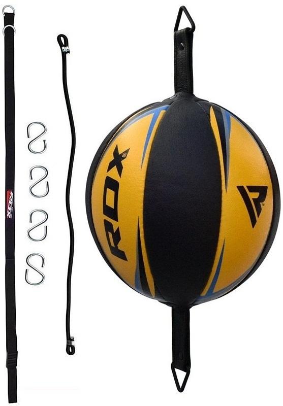 Груши Груша RDX Leather Double End Dodge Speed Ball Yellow 1.jpg