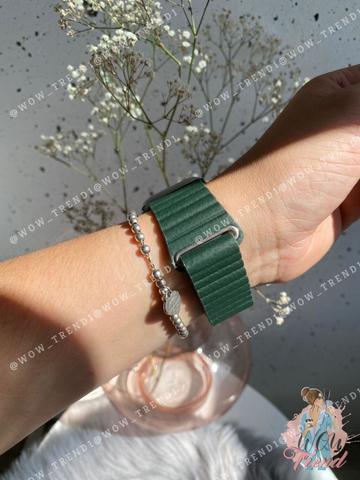 Ремешок Apple watch 38mm Leather Loop /green/