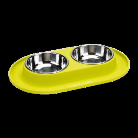 Beeztees Миска для собак металлическая на силиконовой подставке 2 шт.