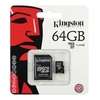 Карта памяти Kingston MicroSD (Class 10) 64gb + адаптер