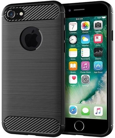 Чехол iPhone 7 (iPhone 8) цвет Black (черный), серия Carbon, Caseport