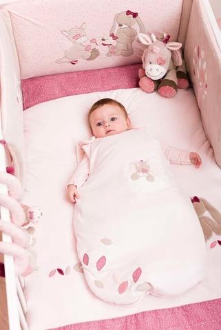 Спальный мешок Nattou Nina, Jade & Lili 70см pink