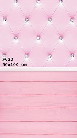 Фотофон виниловый стена-пол «Розовый мягкий» №030