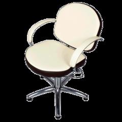 Парикмахерское кресло Орион Люкс гидравлика хром, пятилучье хром на подпятниках