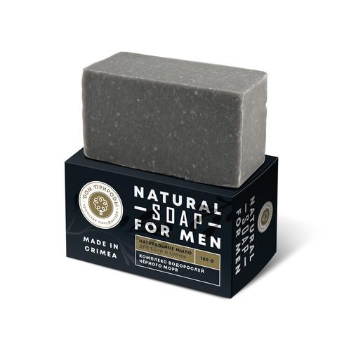 МДП Натуральное мыло для бани и сауны с комплексом водорослей Черного моря, 180г