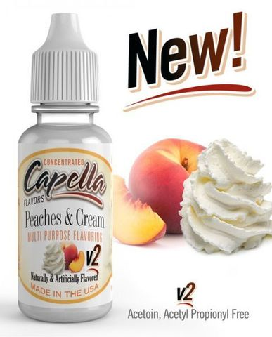 Ароматизатор Capella  Peaches & cream V2