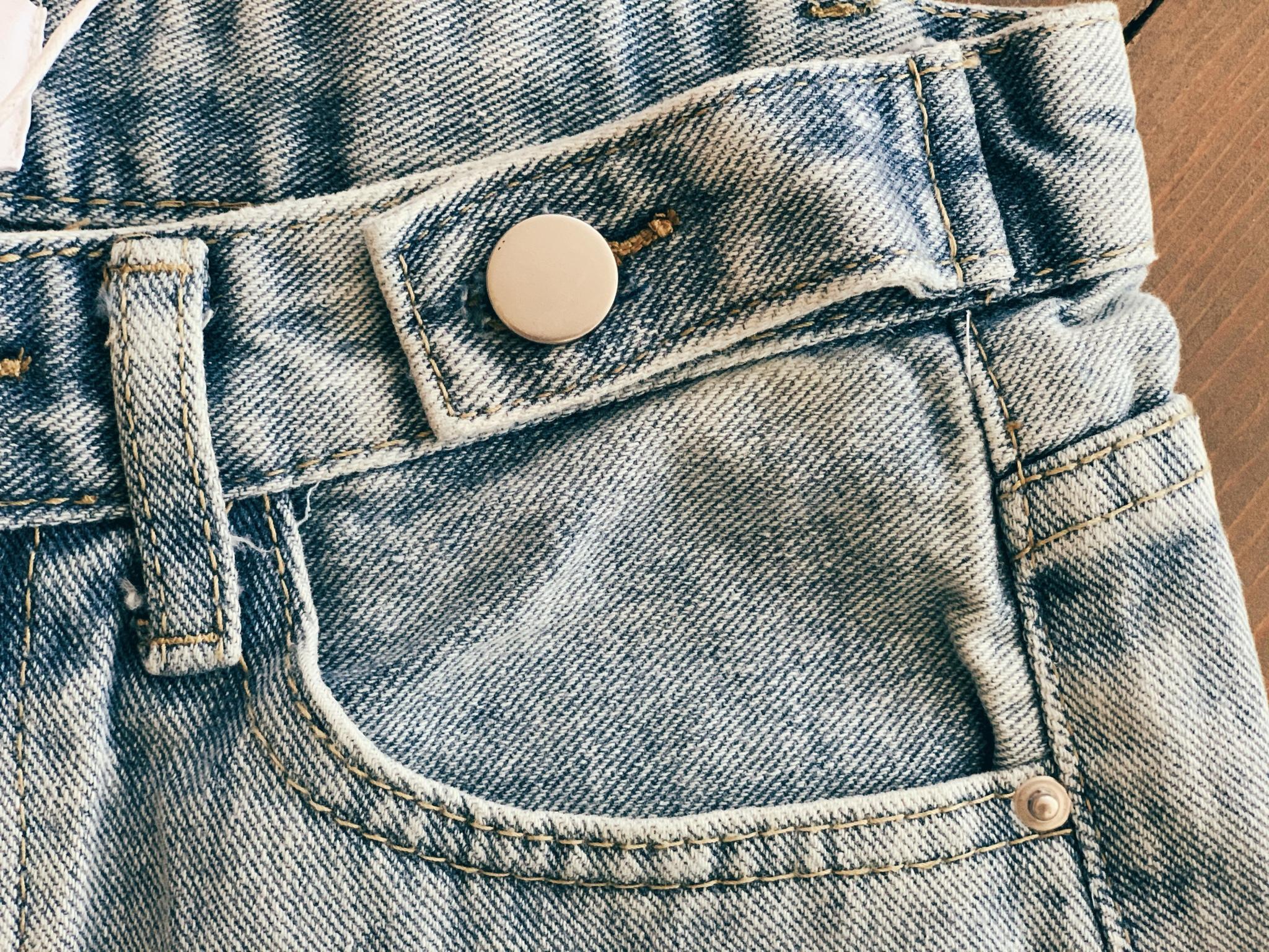Джинсовые шорты с бахромой, голубой
