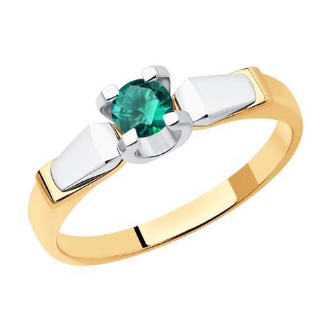 3010610- Кольцо из золота с  изумрудом