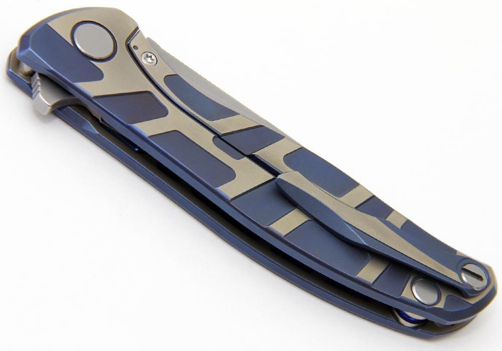 Нож Широгоров Кастом Флиппер 95 Т-узор - фотография
