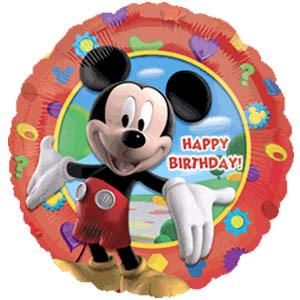 Фольгированный шар С Днем Рождения Микки 18