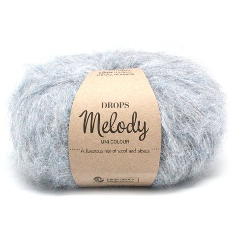 Пряжа Drops Melody 02 серый