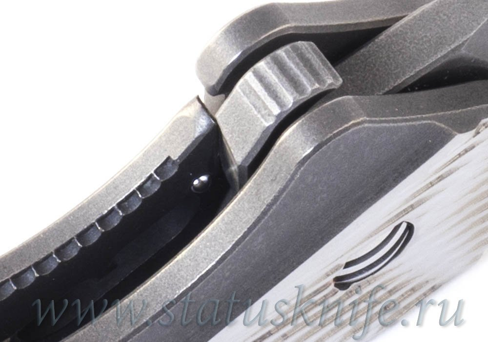 Нож GTC TGIF II with Black Timascus Clip and Backspacer - фотография