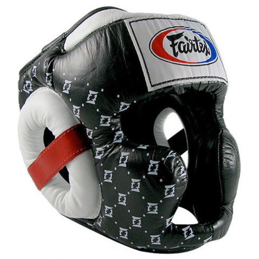 Шлемы Шлем Fairtex Headguard Super Sparring HG10 Black 1.jpg