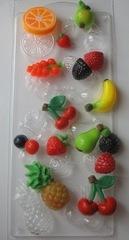 Пластиковая форма для шоколада бол. ФРУКТОВОЕ АССОРТИ 12 фигур