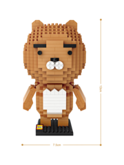 Конструктор LOZ Медведь Райан 480 деталей NO. 9209 Bear Ryan iBlockFun Series