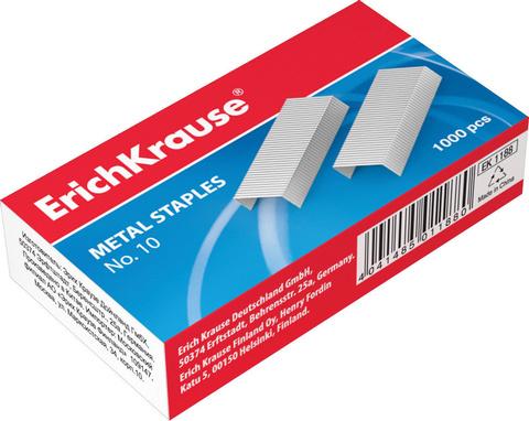 Скобы для степлера №10, 1000 штук, Erich Krause, до 20 листов