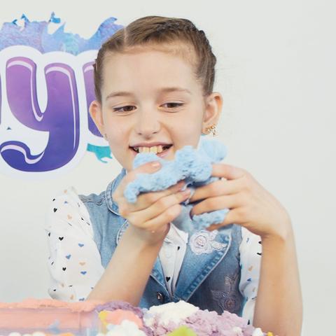 ZEPHYR (Зефир) - кинетический пластилин, голубой 150 гр