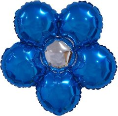 Шар (22''/56 см) Фигура, Цветок, Синий, 5 шт.