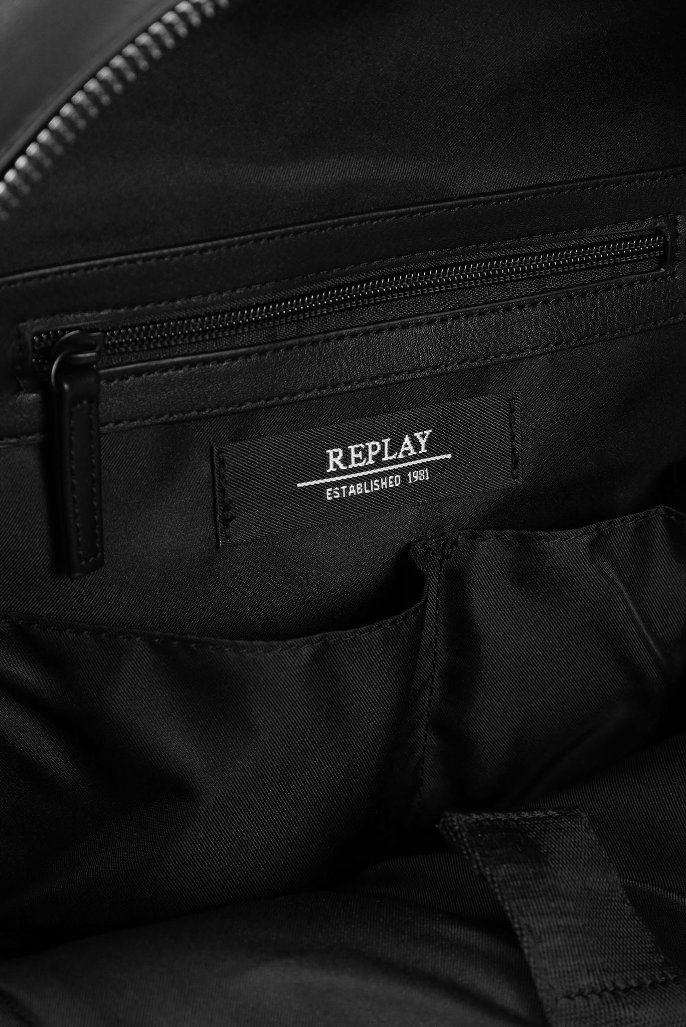Мужской черный рюкзак Replay