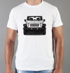 Футболка с принтом Jeep (Джип) белая 0011