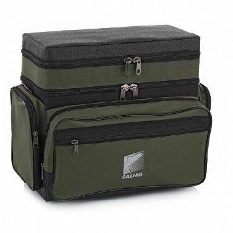 Ящик-рюкзак рыболовный зимний Salmo пенопластовый 2-х ярус. H-2LUX