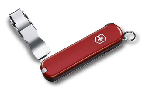 Нож-брелок Victorinox Classic Nail Clip 582, 65 мм, 4 функции, красный