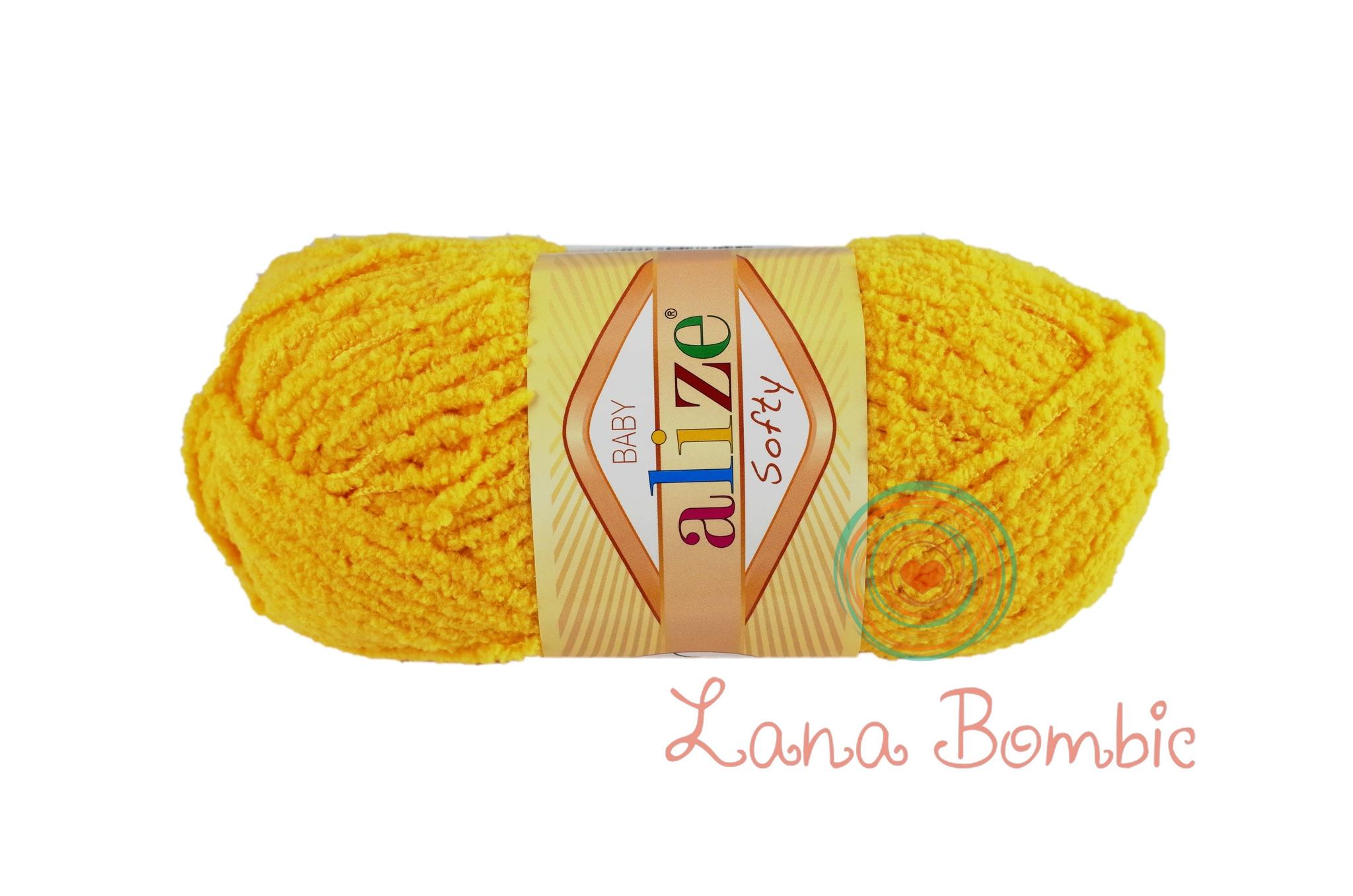 Пряжа Alize Softy желтый 216