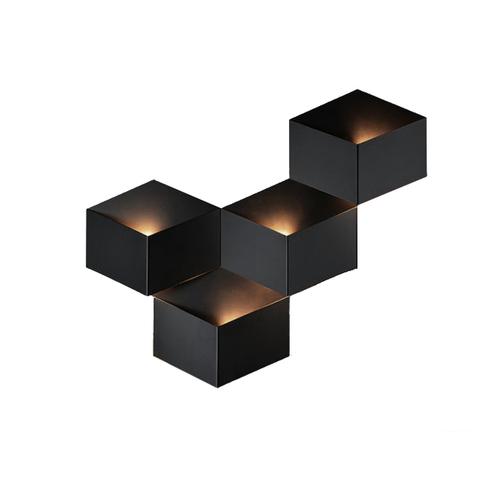 Настенный светильник копия Fold 4205 by Vibia (4 плафона, черный)