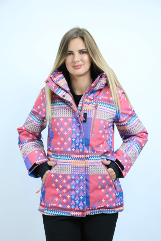 Куртка горнолыжная женская FREEFLY розового цвета.