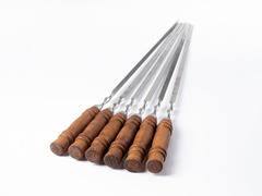 Шампур нерж. сталь ручка 3*10мм,40-50см длинной (мин. заказ 5 шт - пачка), 2 сорт