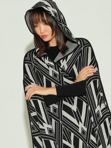 Женский кардиган черного цвета из шелка и кашемира - фото 5