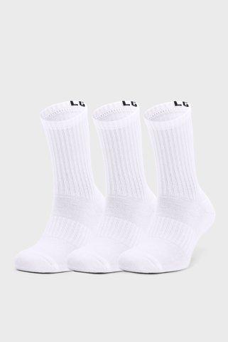 Белые носки (3 пары) UA Core Crew 3PK Under Armour