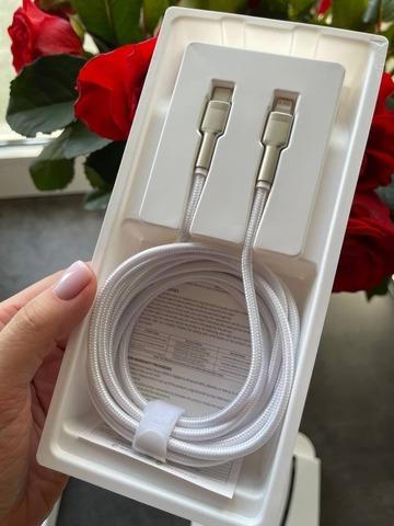 USB кабель Type-C to Lightning Baseus Cafuie Metal 2m 20W /white/