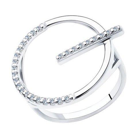 94013091 - Оригинальное, стильное кольцо Сфера из серебра