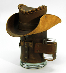 Сувенирная кружка Шериф, коричневая, фото 1