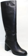 Сапоги женские зимние кожаные европейки Richesse-R Black Leather 39 размер