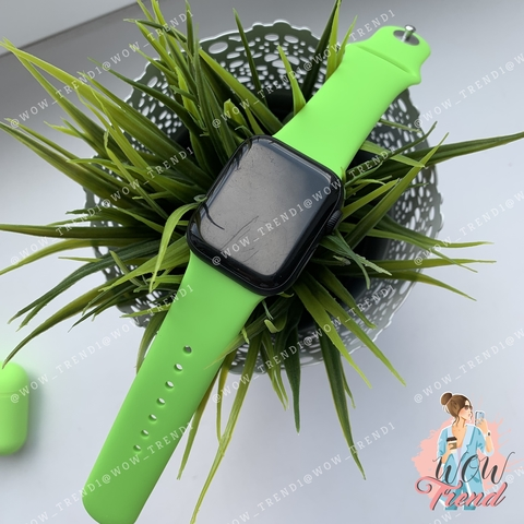 Ремешок Apple watch 42/44mm Sport Band /lime green/ салатовый