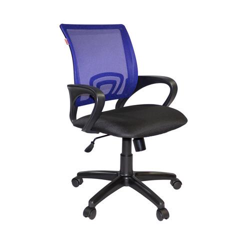 Кресло офисное Easy Chair 304 черное/синее (ткань/сетка/пластик)