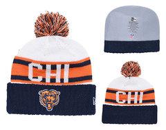 Шапка вязаная с помпоном и с логотипом НФЛ Чикаго Беарз (NFL Chicago Bears)