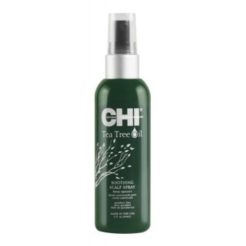 CHI Tea Tree Oil: Успокаивающий спрей с маслом чайного дерева для кожи головы (Soothing Scalp Spray), 89мл