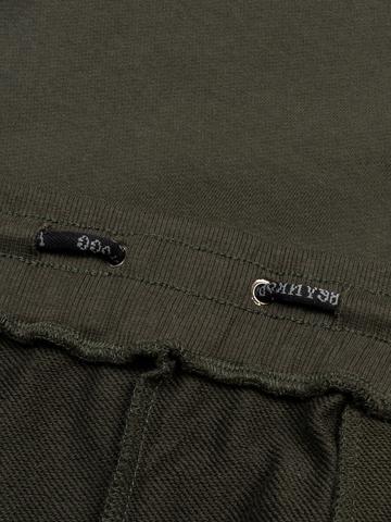 Спортивные штаны цвета хаки с манжетами, без лампасов
