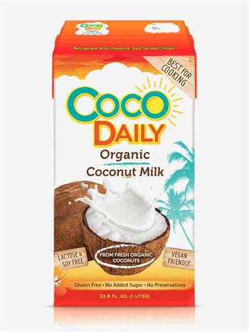 Coco Daily, Органическое кокосовое молоко, жирность 17-19%, 1000мл